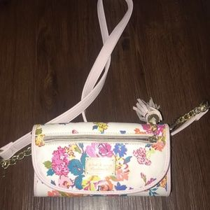 Betsey Johnson over the shoulder, floral, purse